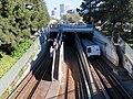 BART train entering K Line portal in Oakland, July 2018.JPG
