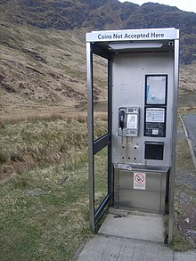 A typical BT payphone in Scotland