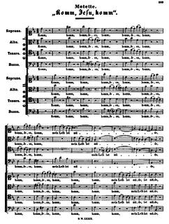 <i>Komm, Jesu, komm</i>, BWV 229 motet by Johann Sebastian Bach