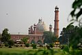 Badshahi Mosque through Foliage, Lahore.jpg