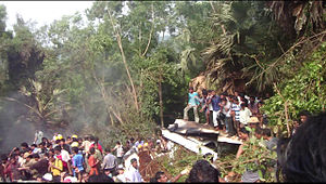 English: Bajpe plane crash site photo