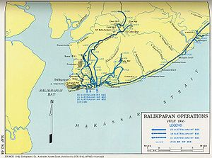 Battle of Balikpapan (1945) - A map of the battle
