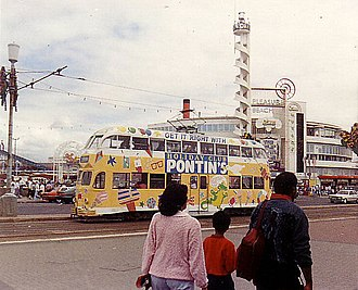 Pontins - Balloon car 707, seen with an all over advert for Pontin's, at Blackpool Pleasure Beach, 5 August 1990