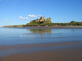 Rulers of Bamburgh - The current castle at Bamburgh.