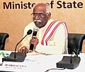 Bandaru Dattatreya addressing at the signing of the agreement between EPFO and public and private sector banks for Multiple Banking System for EPFO contribution and payments, in New Delhi.jpg