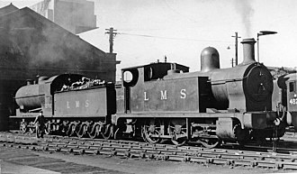 L&YR Class 24 - No. 11535 at Bank Hall Locomotive Depot in 1948
