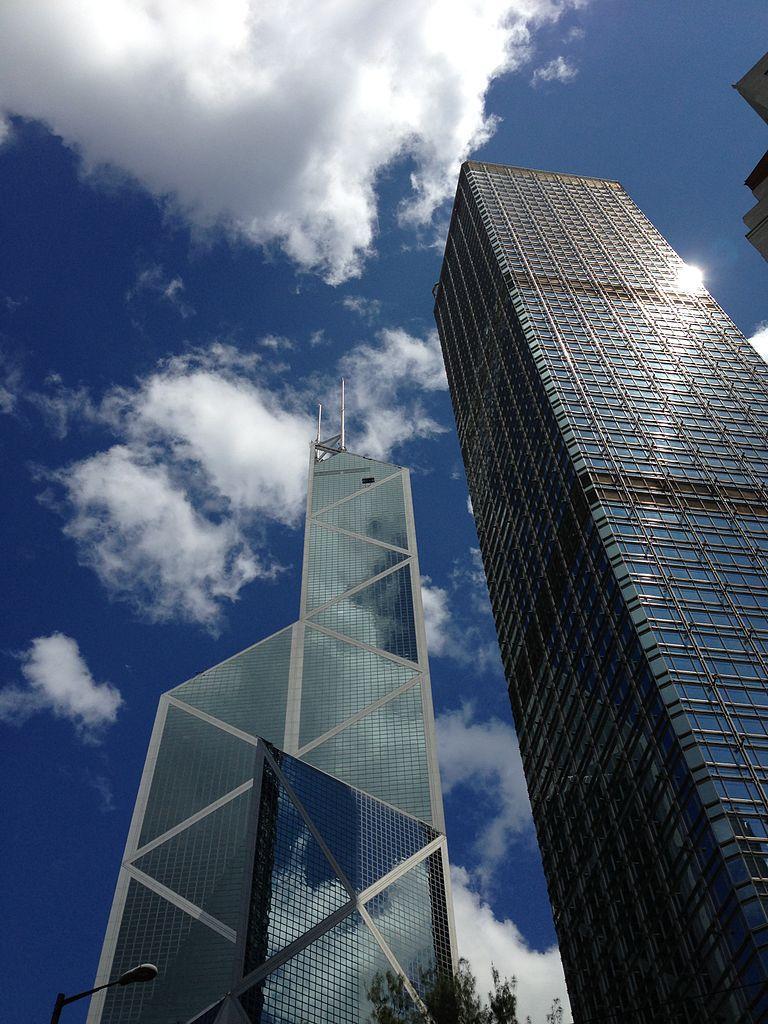 filebank of china tower and cheung kong center hong kong