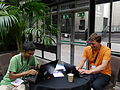 Barbican conservatory at 5pm on Friday of Wikimania 2014 01.jpg
