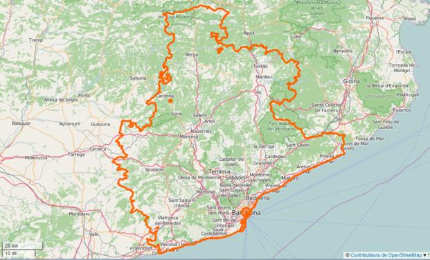 Carte Barcelone Et Ses Environs.Barcelone Wikipedia