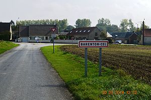 Barenton-Cel - The road into Barenton-Cel