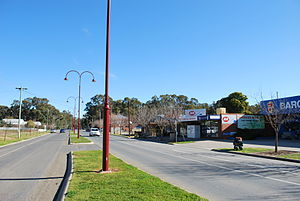 Barooga - The main street of Barooga.