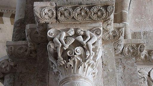 Basilique Ste Madeleine chapiteau Les Vents