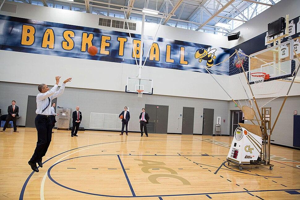 Basketball is still a big part of Barack Obama's life, 2015