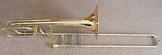 Types of trombone - Bass trombone with F trigger and dependent D trigger