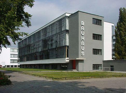 The Bauhaus school building in Dessau, Germany.