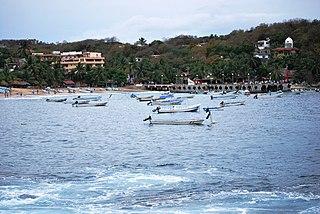 Puerto Ángel Town in Oaxaca, Mexico