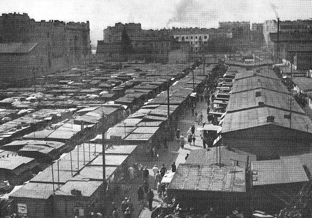 Bazar Rozycki à Varsovie en 1967.