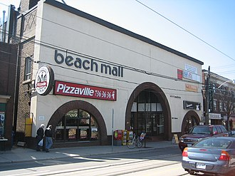"The Beaches - The former Beach Theatre, presently Beach Mall. A long standing issue in the community has been the area's name, whether its proper name is ""The Beach"" or ""The Beaches""."