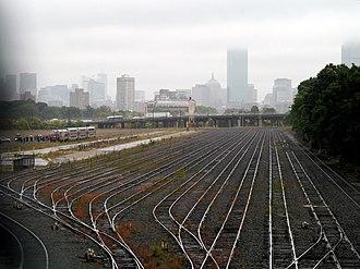 Framingham/Worcester Line - Empty Beacon Park Yard in 2014