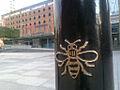 Bee on a bollard.jpg
