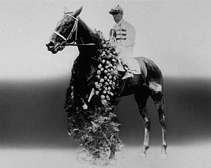 1921 Kentucky Derby - Behave Yourself after winning the 1921 Kentucky Derby