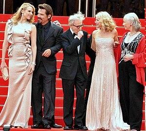 You Will Meet a Tall Dark Stranger - Lucy Punch, Josh Brolin, Woody Allen, Naomi Watts and Gemma Jones promoting the film at the 2010 Cannes Film Festival.
