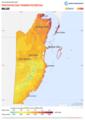 Belize PVOUT Photovoltaic-power-potential-map GlobalSolarAtlas World-Bank-Esmap-Solargis.png