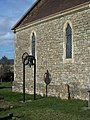 Bell in churchyard, All Saints Church, Stour Row - geograph.org.uk - 361700.jpg