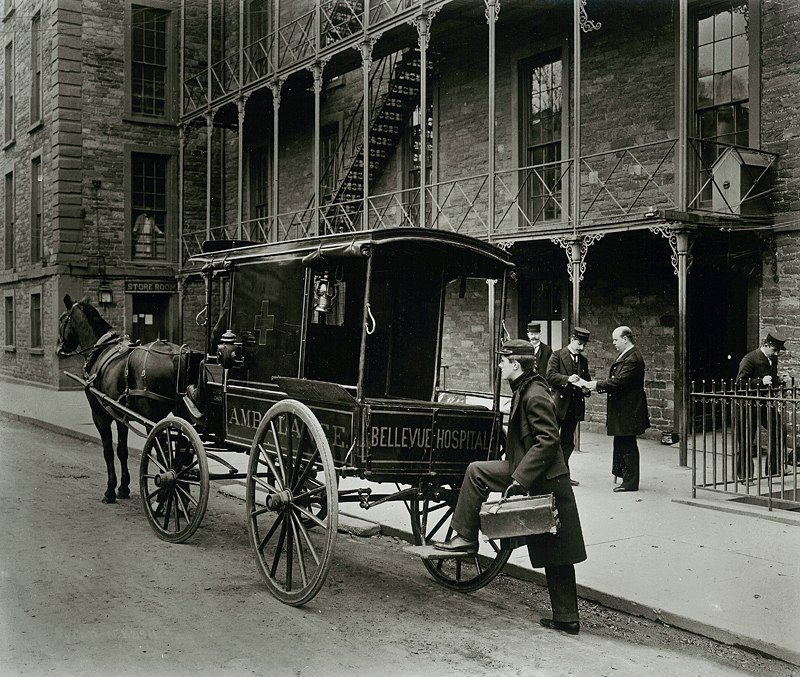 Bellevue Hospital Ambulance, New York Times, 1895