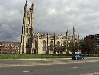 Commissioners' church - Church of St George, Chester Road, Hulme, by Francis Goodwin in a Gothic Revival style with Perpendicular elements