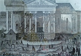 German revolutions of 1848–49 - The dead are laid out on the Gendarmenmarkt, Berlin