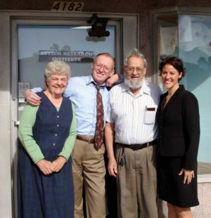 Bernard Rimland - Bernard Rimland (second from right) in front of the Autism Research Institute (ARI)