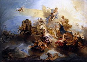 Nicolas Bertin - Phaeton driving the sun-chariot Phaéton on the Chariot of Apollo, c. 1720