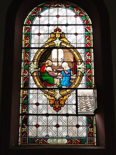 Bertrichamps (M-et-M) église Saint-Jean-Baptiste, vitrail
