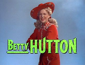 Betty Hutton - Hutton in the trailer for  Annie Get Your Gun (1950)