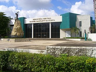 Universidad Juárez Autónoma de Tabasco - UJAT's Main Library. It is one of nine libraries spread throughout the University