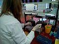 Biochemist working in biochemical laboratory, Биохемичар 2.jpg