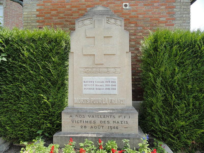 Monument aux membres des Forces Françaises de l'Intérieur mortes pour la France durant la Seconde Guerre mondiale.
