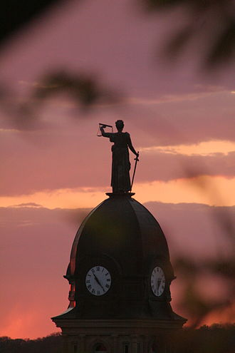 Blue Earth County Courthouse - Lady Justice