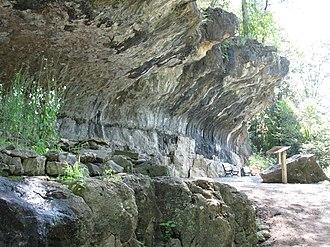 Blue Spring Heritage Center - The Cliff Shelter at Blue Spring.