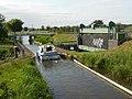 Boat crossing the Mullincourt Aqueduct - geograph.org.uk - 1555241.jpg
