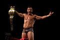Bobby Fish Flaunts ROH World Tag Team Gold.jpg