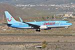 Boeing 737-8K5(w) 'OO-JAX' Jetairfly (24909402952) (2).jpg