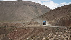 Route 5 between Potosí and Uyuni in Tomave Municipality