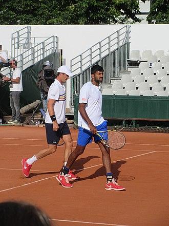 Rohan Bopanna - Rohan Bopanna and Édouard Roger-Vasselin during 2018 French Open.
