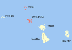 Location of the commune (in red) within the Leeward Islands