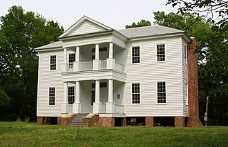 National Register of Historic Places listings in Hale County, Alabama - Image: Borden Oaks Plantation House Front Facade