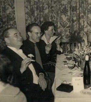 Carl F. W. Borgward - Carl F.W. Borgward (left) and Hubert M. Meingast (second from left) around 1950.