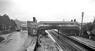 Boscombe railway station - View eastward, towards Southampton in 1963