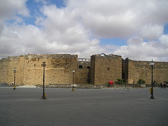 Bosra - A view of the citadel in Bosra (the theater is located inside)